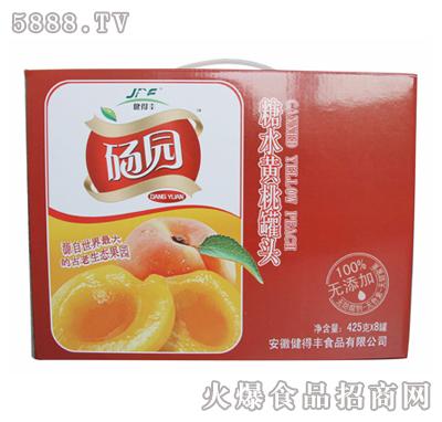 砀园糖水黄桃罐头425g×8罐礼盒