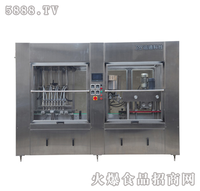 杰瑞PN200-8H型20ml-200ml全自动活塞式灌装旋盖一体机产品图