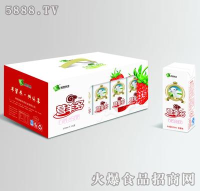 阳春乳业苗条砖草莓味营羊多250mlx12盒