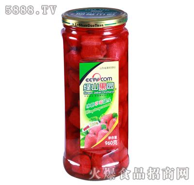 绿山果园960g冰糖草莓罐头