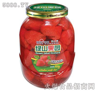 绿山果园930g冰糖草莓罐头