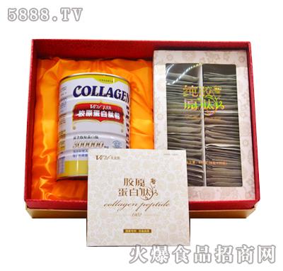 太爱肽纯胶原肽礼盒组鳕鱼+骨肽8g+350g产品图