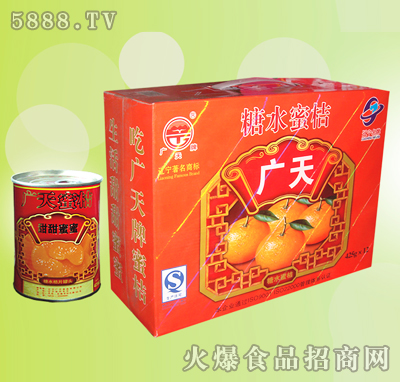 广天糖水蜜桔罐头礼盒