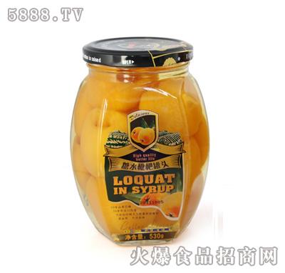 艾斯曼530g糖水枇杷罐头
