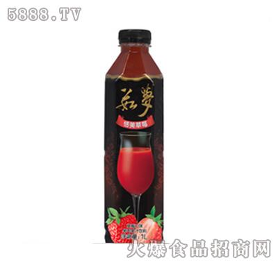 上好佳茹梦草莓口味混合果肉果汁1000ml