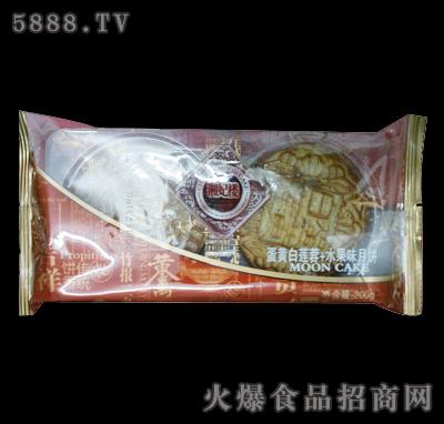 湘妃楼蛋黄白莲蓉+水果味月饼125g