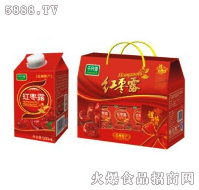 千尺雪红枣露果味饮料500ml×6盒
