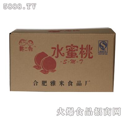 新二郎60支箱装仿瓶装塑袋果味饮料(水蜜桃味)