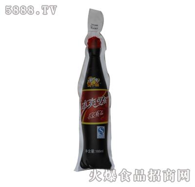 新二郎仿瓶装塑袋果味饮料(可乐味)