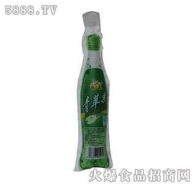 新二郎仿瓶装塑袋果味饮料(青苹果味)