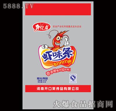 101g膨化食品2元虾条