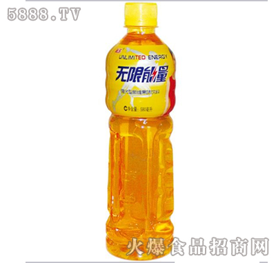 途乐无限能量580ml由河北百事康饮品有限公司出品,属功能饮料系列产品