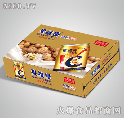 果维康原浆核桃果仁露矮罐箱