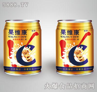 果维康原浆核桃果仁露矮罐
