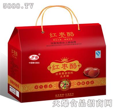 妙畅红枣酪果浆饮料箱装