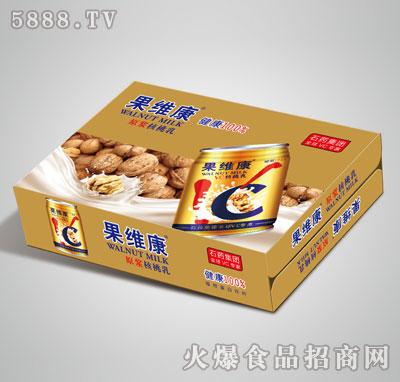 果维康原浆核桃乳矮罐箱