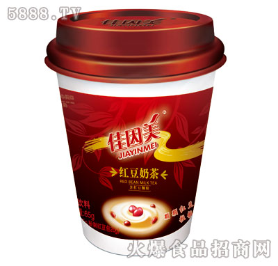 佳因美红豆奶茶(含红豆颗粒65克)产品图