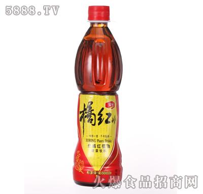600ml橘红岭植物凉茶饮料产品图