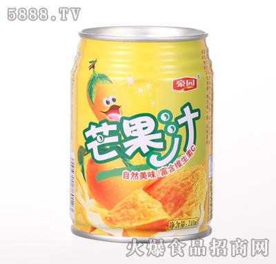 240ml豪园芒果汁饮料产品图