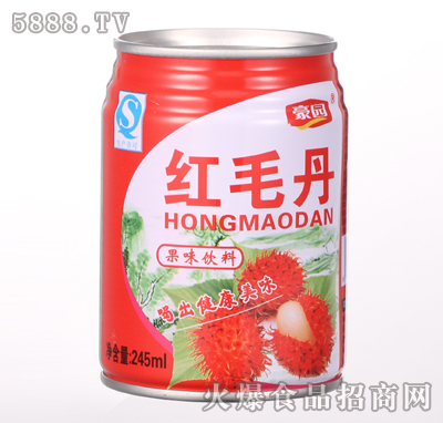 245ml红毛丹果味饮料产品图