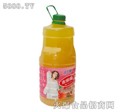 2.5L华人牛水蜜桃果味饮料产品图