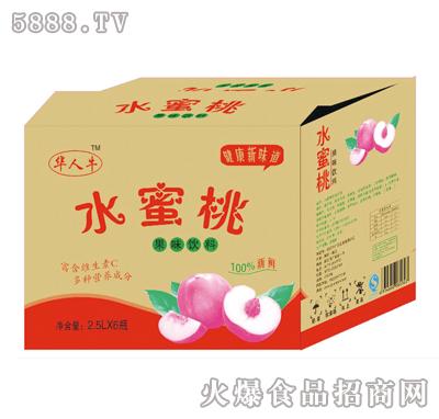 2.5Lx6瓶华人牛水蜜桃产品图