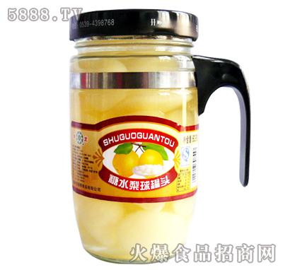 糖水梨球罐头杯