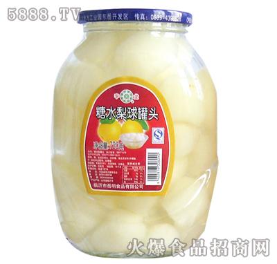 720g糖水梨球罐头