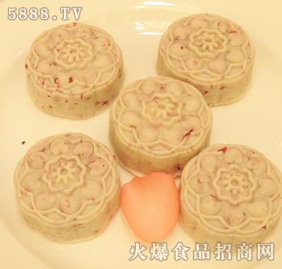 玫瑰雪皮月饼