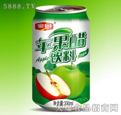 330ml豪园苹果醋饮料产品图