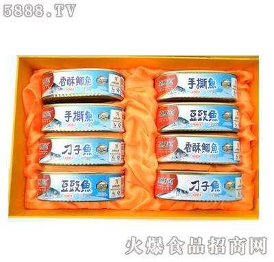 原鲜道鱼罐头礼盒