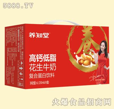 养知堂高钙低脂花生牛奶250mlx24盒