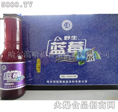 哈福三莓蓝莓果浆饮料