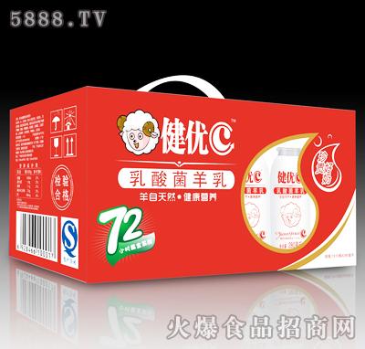 健优C乳酸菌羊乳1X12瓶X280ml(红)产品图