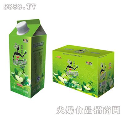 绝乖苹果醋众擎绿屋顶盒520ml