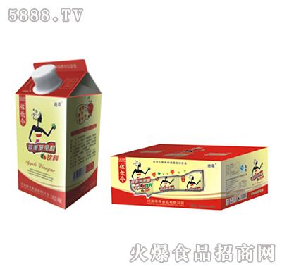 左饮令蜂蜜红苹果醋屋顶盒490ml