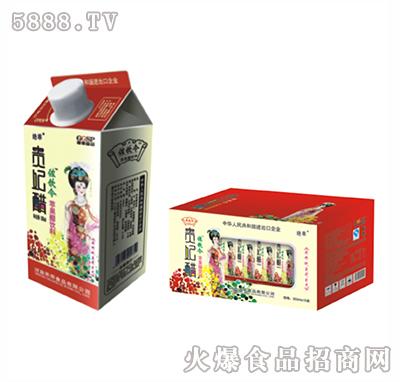 左饮令贵妃红苹果醋屋顶盒350ml