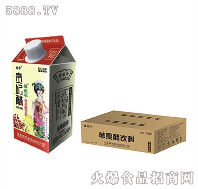左饮令贵妃红苹果醋屋顶盒中转箱350ml