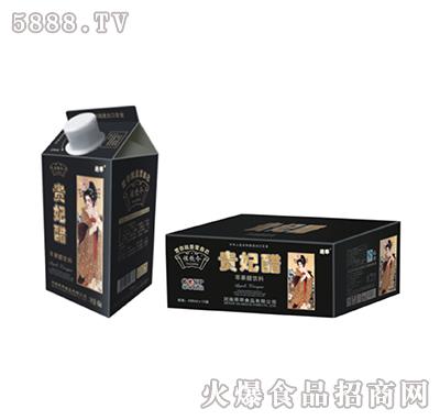 左饮令苹果醋贵妃黑屋顶盒490ml