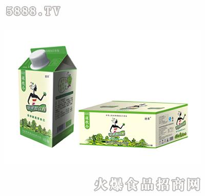 左饮令苹果醋绿屋顶盒490ml