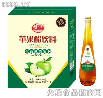 恬润苹果醋饮料828mlx6瓶