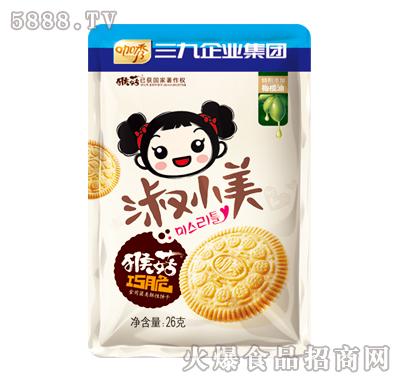 咖秀淑小美猴菇巧脆食用菌类酥性饼干26g