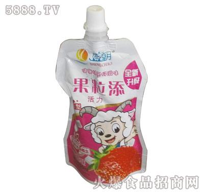 盛朝早餐奶果粒奶草莓味产品图