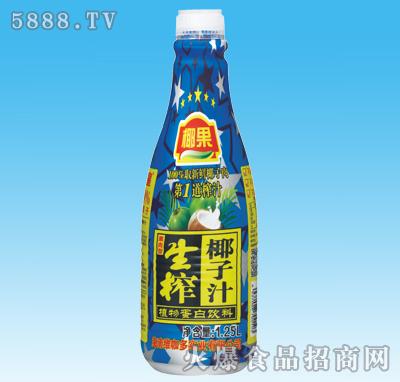 椰果生榨椰子汁1.25L