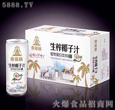 245mlx20(24)罐泰滋味生榨椰子汁植物蛋白饮料