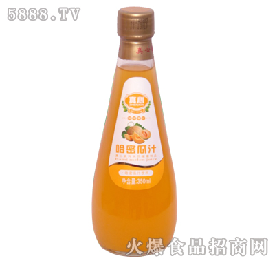 真心哈密瓜汁350ml