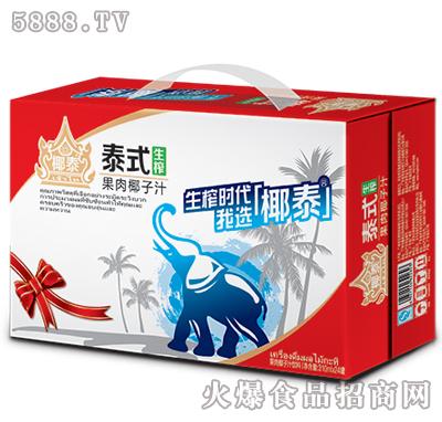 椰泰泰式生榨果肉椰子汁1L×24普通装