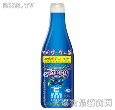 恒大梦野生蓝莓汁1.25L