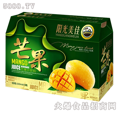 阳光美佳芒果汁饮料箱装230mlx15产品图
