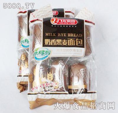 飞龙食品奶香黑麦面包240g